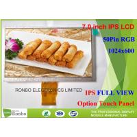 Buy cheap Customizable IPS LCD Display 7'' 1024 X 600 Resolution RGB 50 Pin With Wide product