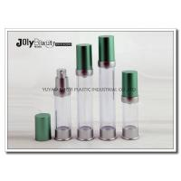 Buy cheap Blue Head Cap Silver Bottle Body Transparent Plastic Pump Bottles 10ML from wholesalers