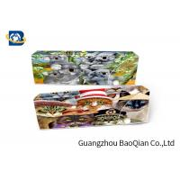 Buy cheap Cartoon Animal 3D Stationery Flip Effect For School , 3D Pencil Case from wholesalers