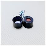 SC8 PTFE/Silicone septa, black screw polypropylene cap, 5.5mm centre hole/ use for 8-425 hplc vial Manufactures