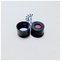 Quality SC8 PTFE/Silicone septa, black screw polypropylene cap, 5.5mm centre hole/ use for 8-425 hplc vial for sale