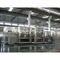 3-in-1 Carbonated Filling Machine For PET Bottle With 24 Rinsing Heads Manufactures