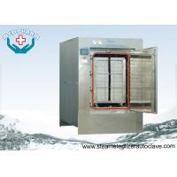 Automatic Hinge Door Medical Waste Autoclave Steam Sterilizer With Touch Screen PLC System Manufactures