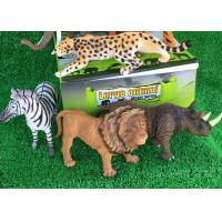 Quality Large Animal Model Plastic Tiger Toy Color Customized EN71 Certificatized for sale