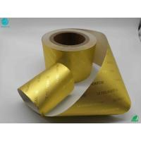 Buy cheap 8011 Alloy Food Chocolate Cigarette Golden Frosting Surface Aluminum Laminated Foil Paper from wholesalers