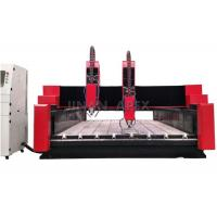 Buy cheap Glass / Stone CNC Router Machine Seamless Welded Steel Structure Water Cooling Spindle from wholesalers