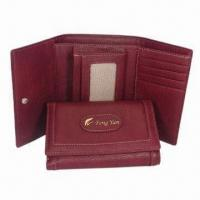 Wholesale Men's PU Leather Wallets, Measures 10 x 14 x 3cm, OEM Orders Welcomed from china suppliers