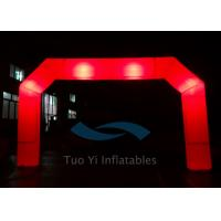 Wholesale Red PVC Blow Up Start Finish Line Inflatable Gate LED Light Balloons from china suppliers