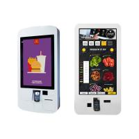 Buy cheap Food Ordering Self Service Kiosk , Touch Screen Display Kiosk With Pos System / Bill Printer from wholesalers