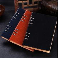 Buy cheap Business gift - Manufacture loose-leaf notebooks 6 ring binder leather agenda LN-005 from wholesalers