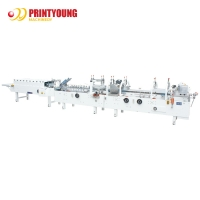 Buy cheap ZH-800G Paper Feeding Cold Glue Olive Oil 4.5KW Box Folding Machine from wholesalers
