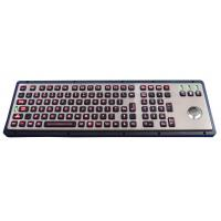 Easy cleaning metal panel mount keyboard / usb keyboard with trackball dirtproof