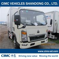 Buy cheap ZZ1047C2813C145 SINOTRUK CHASSIS insulated van refrigerator van small refrigerated trailer from wholesalers