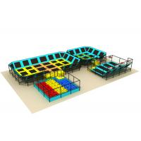 Buy cheap Mixed Designs Toddler Indoor Trampoline Park Customized Size 124CBM Volume from wholesalers