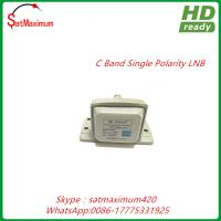 Buy cheap 15K Noise High gain Single Polarity C band LNB receiving V and H polarity LNB from wholesalers