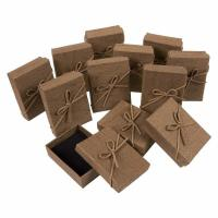 Buy cheap 3.6 X 1 X 2.7 Inches Small Cardboard Gift Boxes Brown Color With Lids from wholesalers