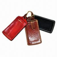Wholesale Luggage Tags, Made of Genuine Leather from china suppliers