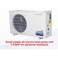 Wholesale White Small Air Source Heat Pump Circulation Heating Freestanding Installation from china suppliers