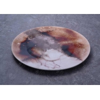 Buy cheap SGS 11 Inch Flat Round Porcelain Dessert Plates With Decals from wholesalers