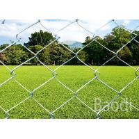 Buy cheap Carbon Steel Galvanized Chain Link Mesh Fence Diamond Pattern With Metal Round Post from wholesalers