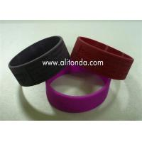 Buy cheap China suppliers custom fashion silicone slap bracelet /slap wristband with printing logo from wholesalers