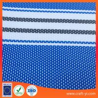 Buy cheap blue with white color stripe 2X1 textilene mesh fabric for outdoor chair sunscreen from wholesalers