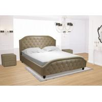Buy cheap Euro Platform Bed with Side Rails and Soft Upholstered Exterior, White Finish, King from wholesalers