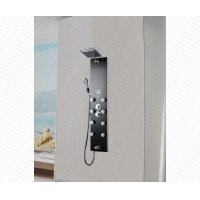 Buy cheap multiple function black color temper glass bathroom shower panel from wholesalers