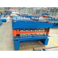 Buy cheap Double-corrugated Sheet Roofing Sheet Roll Forming Machine with protective cover from wholesalers