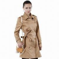 Buy cheap Women's Trench Coat with Double Breasted Button from wholesalers