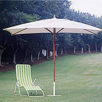 Buy cheap 2*3M Rectangle Wooden Market Umbrella from wholesalers