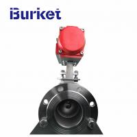 Buy cheap China Burket Aluminum pneumatic actuator Operated Flanged Ball Valve in stock for dyeing machine from wholesalers