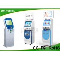 Buy cheap Floor Standing Card Dispenser Kiosk , Check Cashing Kiosk With Account Inquiry / Transfer from wholesalers