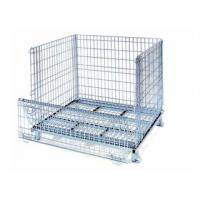 Buy cheap Galvanized collapsible metal wine container mesh basket cage from wholesalers