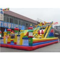 Buy cheap 0.55mm Tarpaulin Large Amusement Park Commercials Inflatable Playground from wholesalers