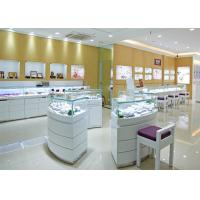 Wholesale Retail Shop Lighted Commercial Jewelry Wall Display Case High Glossy White Color from china suppliers