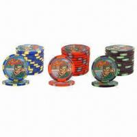 Buy cheap 10g Casino Ceramic Poker Chips, Measuring 39 x 3mm, OEM Orders are Welcome from wholesalers