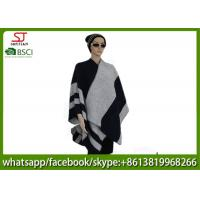 560g 130*130cm 100%Acrylic woven jacquard word poncho hot sale new style  keep warm fashion scarf