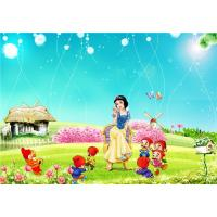 Buy cheap Eco Friendly Bamboo Fiber 3D Embossed Wall Panels Snow White Seven Dwarfs from wholesalers