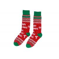 Buy cheap Red Marry Knitted Absorb Sweat Winter Socks , Cozy Christmas Socks For Adults from wholesalers
