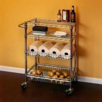Buy cheap Restaurant Food Storage Shelves Utility Transport Steel Cart Zinc Surface Finish from wholesalers