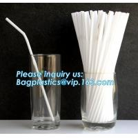 Buy cheap Custom PLA drinking straws Recycled Biodegradable drinking straws,Biodegradable Cornstarch Drinking Pla Straw 5*207mm Wi from wholesalers