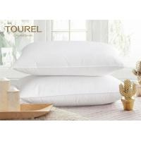 China Hotel White Polyester Microfiber Pillow With Poly Cotton Fabric Pillow Cover on sale