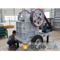 Buy cheap Mobile Small Portable Gold Rock Stone Mini Diesel Engine Jaw Crusher Machine Price For Sale from wholesalers