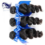 Buy cheap Wavy Weave Malaysian Brazilian Peruvian Hair Black Loose Wave Hair from wholesalers