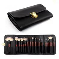 Wholesale Double Bags 26 Cosmetic Makeup Brush Set Animal Hair Wood Handle Material from china suppliers