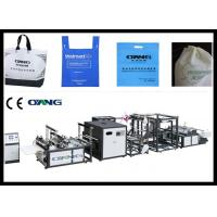 China Eco Recycled Non Woven Bag Making Machine For Shopping / Carry Bag on sale