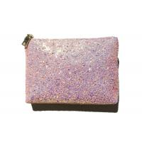Buy cheap Rosegold Shiny PU Ladies Handbags Wristlet Clutch Bling Bling Cell Phone Purse from wholesalers