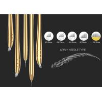 Buy cheap Golden Luxury Disposable Manual Pen For Microstroking Eyebrows Blister Packing from wholesalers