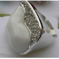 Buy cheap White Jade Finger Ring from wholesalers
